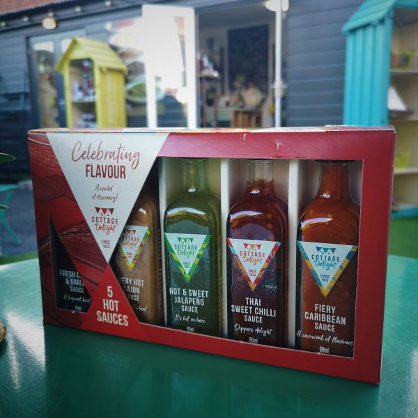 5 hot sauces gift pack